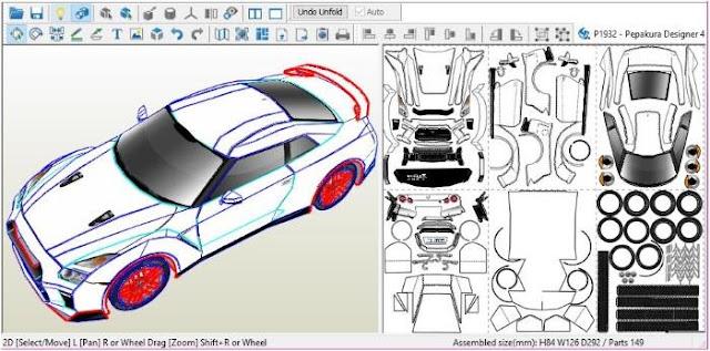 Papermau Nissan Gtr 2017 Godzilla Paper Model By