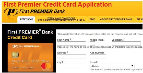 www.premiercardoffer.net: First Premier Credit Card Application