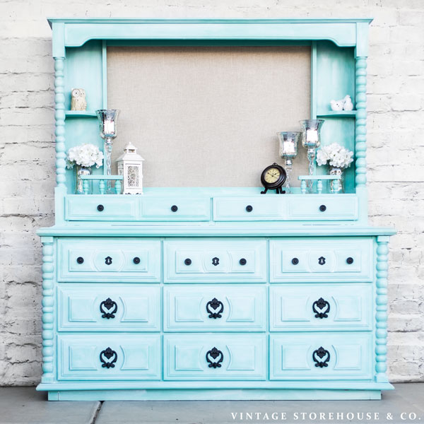 Vintage Storehouse & Co. Dresser Makeover Treasure Hunt Thursday Link Party From My Front Porch To Yours