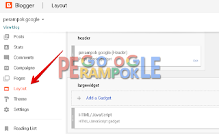 Edit widget di layout blogger