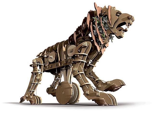 As modernas visões do leão automato - the modern view of the automatus lion