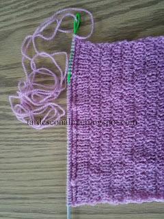 DIY tutorial facil 2 agujas calceta punto lana agujas circulares