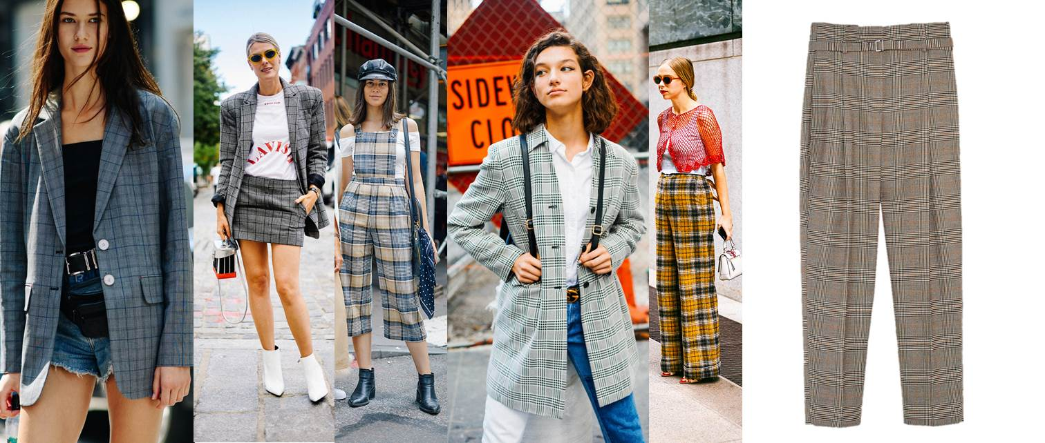 new york fashion week ss18 street style tartan zara