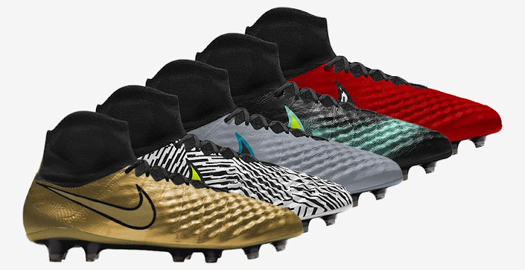Allowing players to create their own versions of the shoe as alternatives  to the very bold launch colorway, the Nike Magista Obra iD football boots  retail ...