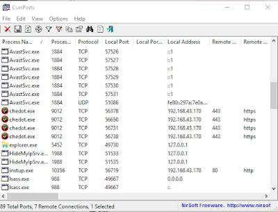 كيفية معرفة البرامج و التطبيقات التي تستهلك تدفق الأنترنت في الويندوز 7