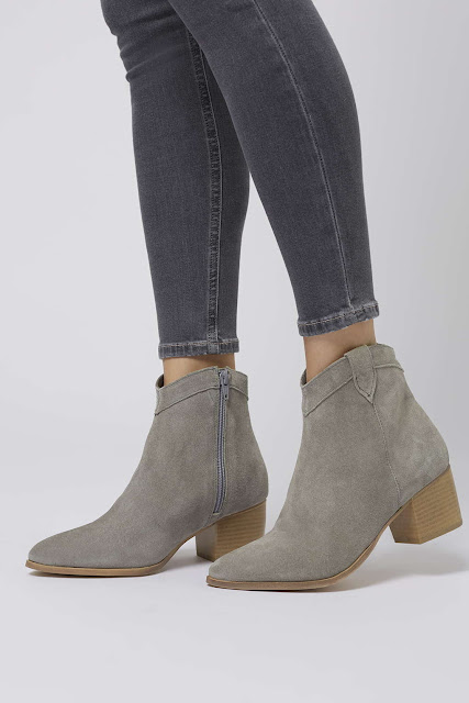 grey suede ankle boots, bale boots review topshop,