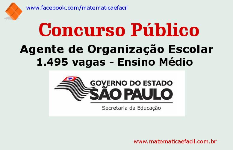 Concurso Público para a Secretaria de Estado da Educação SP