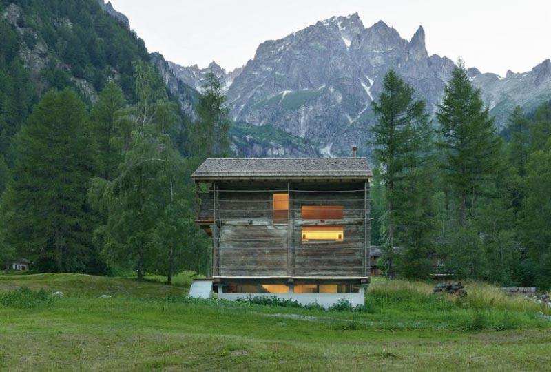 Da fienile abbandonato a moderna baita di montagna