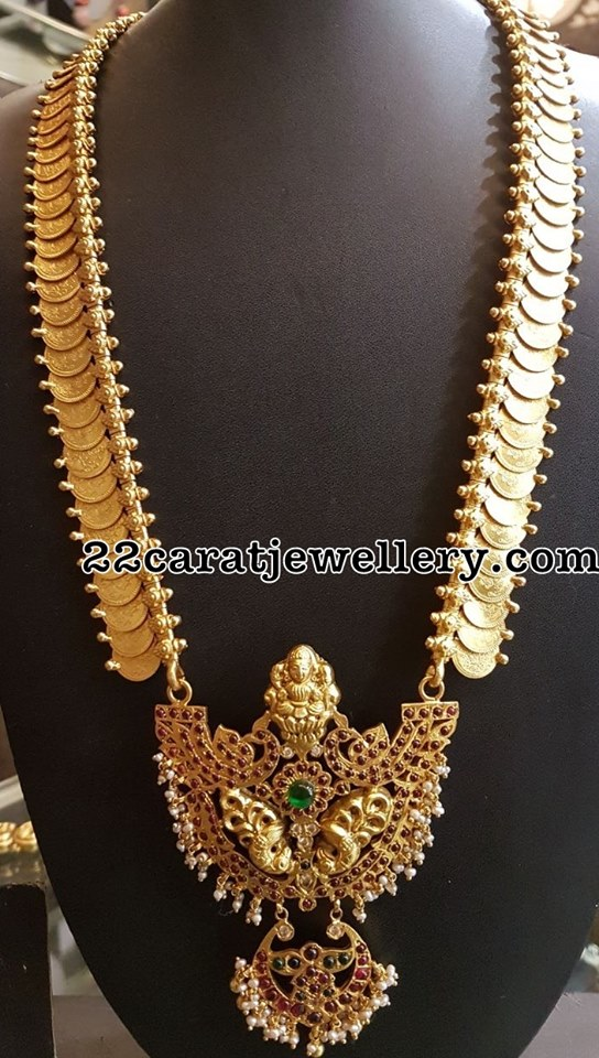 Silver Kasu Necklace and Long Set