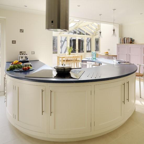 Round Kitchen Island With Seating: Construindo Minha Casa Clean: 45 Cozinhas Americanas Com
