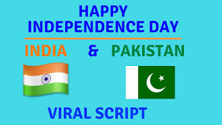 happy independence day to all my indian and pakistani friends