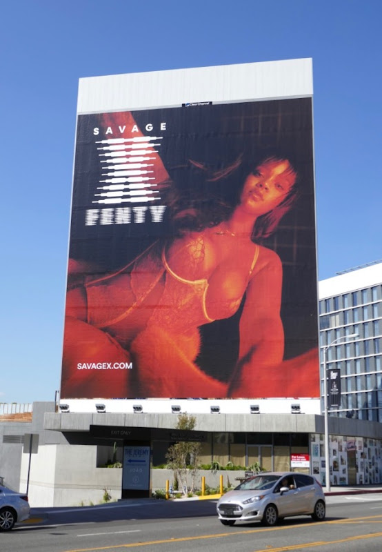 Rihanna Savage X Fenty lingerie billboard