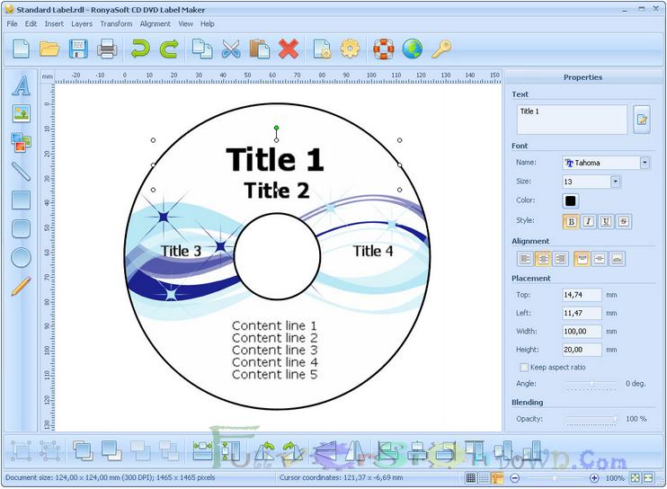 RonyaSoft CD DVD Label Maker 3.2.12 Full Version
