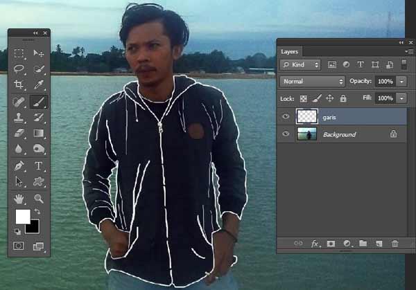 aku mau menunjukkan tips edit foto kekinian yang sering di upload pada instagram Cara Membuat Efek Baju Transparan Bergaris di Photoshop