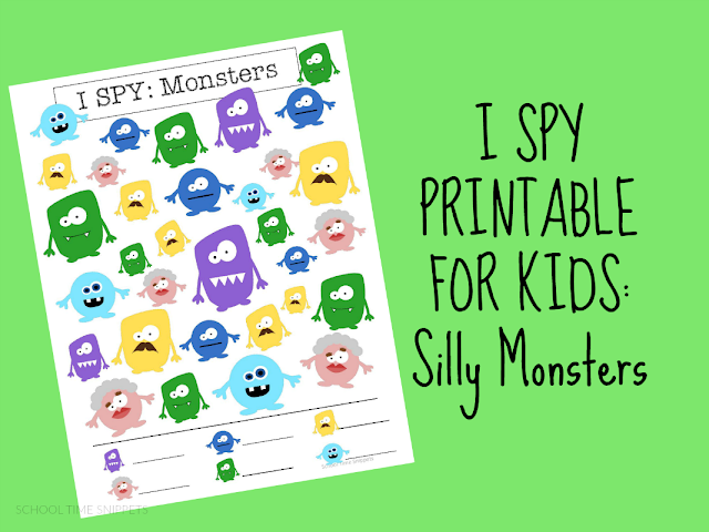 I SPY Printable for Kids