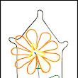 LaVern David Thompson Art Studio: Beautiful Orange Wire Flower