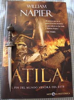 Portada del libro Atila. El fin del mundo vendrá del este, de William Napier