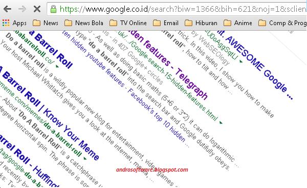 gambar fitur rahasia google do a barrel roll