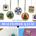Easy No-Resin Real Flower and Leaf Jewelry Tutorial