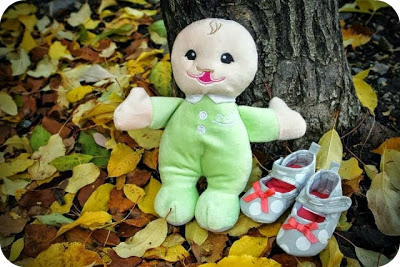plush baby doll with cleft lip by Tiny Wide Smiles