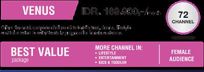 Daftar channel paket indovision venus terbaru 2016