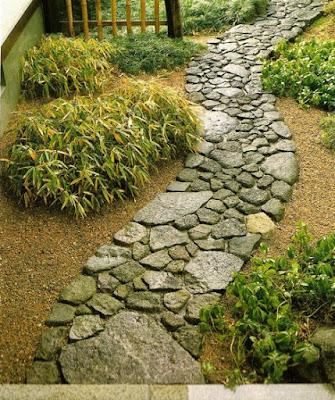 Tipos de caminhos de Jardim Japonês