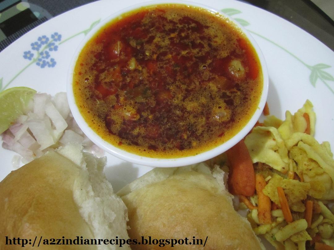 झणझणीत कोल्हापूरी मिसळ - Spicy Kolhapuri Misal Recipe In ...  Misal Pav Recipe In Marathi