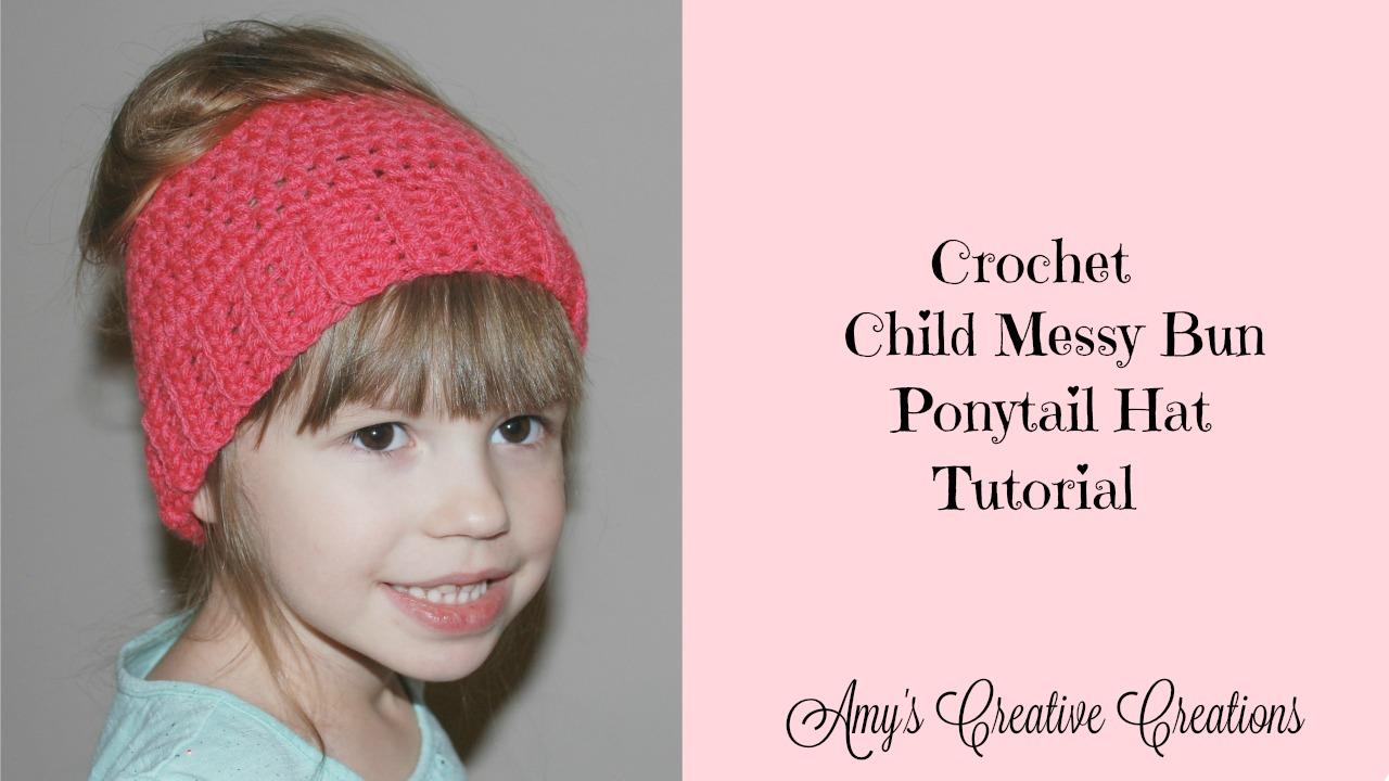 Amy\'s Crochet Creative Creations: Crochet Child Messy Bun or ...