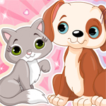 لعبة تلبيس قطة و كلب