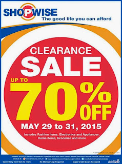SHOPWISE Clearance Sale, sale, promos, super sale, clearance sale