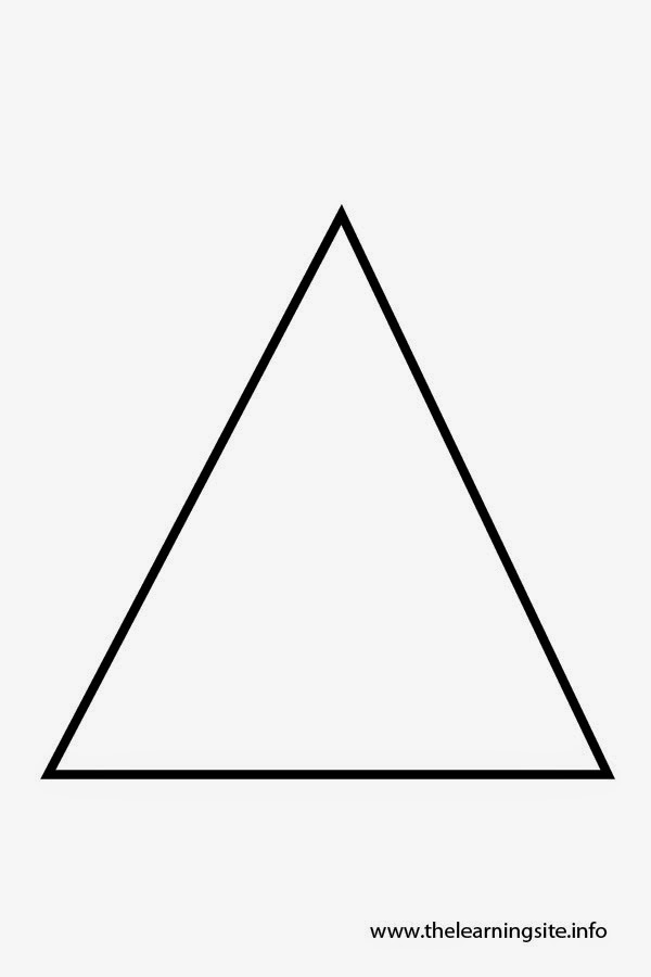 Sgblogosfera mar a jos arg eso shapes flashcards for Triangle coloring pages
