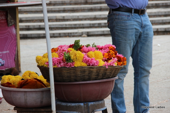 flower stall near temple mysore