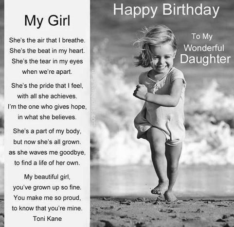 happy birthday to my wonderful daughter
