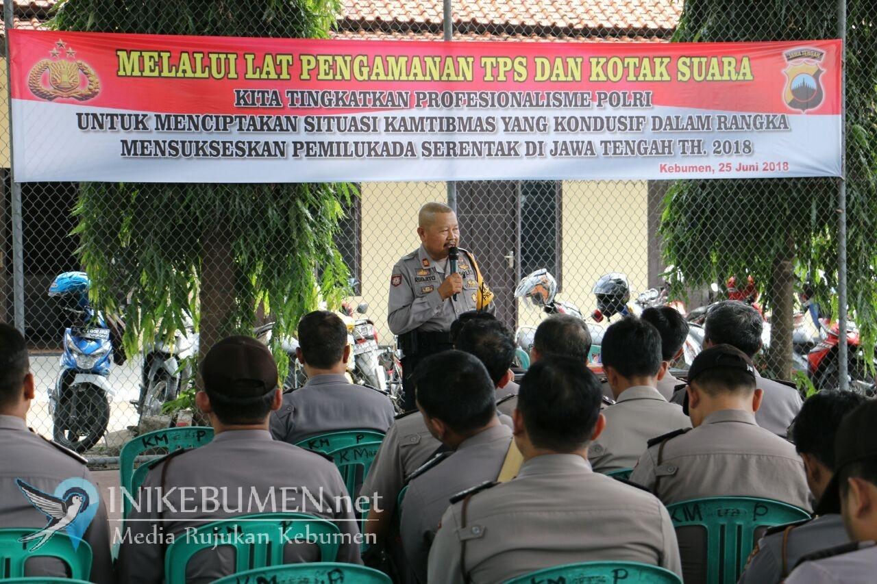 Pilgub Jateng, Polisi Kebumen Dilarang Masuk ke dalam TPS