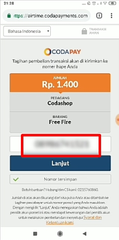 Cara Top Up Diamond Free Fire Di Codashop Via Pulsa 100
