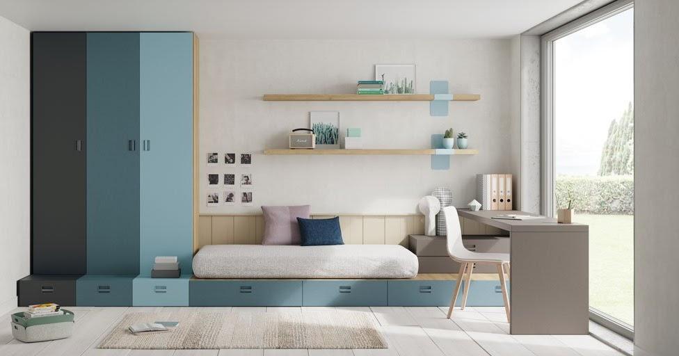 Dormitorios juveniles habitaciones infantiles y mueble - Muebles 1 click madrid ...