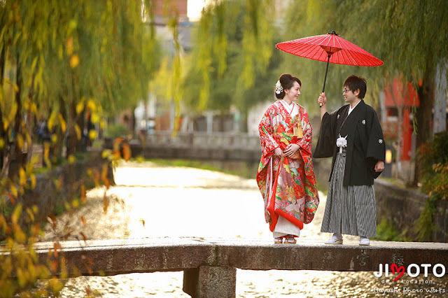 京都前撮りロケーション撮影|白川一本橋