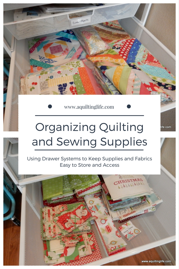 Organizing the Sewing Room | A Quilting Life - a quilt blog : how to store quilting fabric - Adamdwight.com