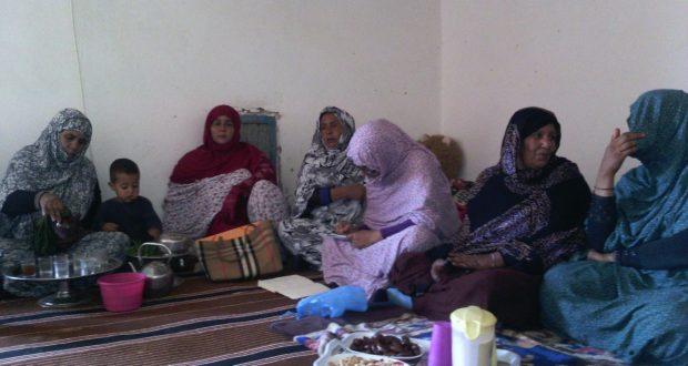 سكان دائرة تفاريتي ينظمون زيارة مجاملة لأحد أبطال جيش التحرير الصحراوي