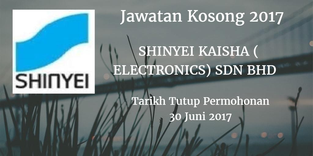 Jawatan Kosong SHINYEI KAISHA ( ELECTRONICS) SDN BHD 30 Juni 2017