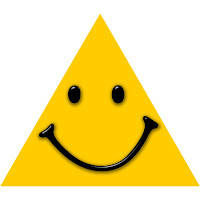 Image result for triangle with a happy face