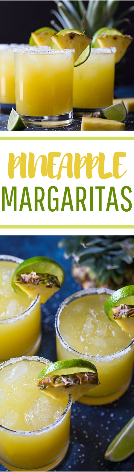 Pineapple Margaritas #summer #freshdrink
