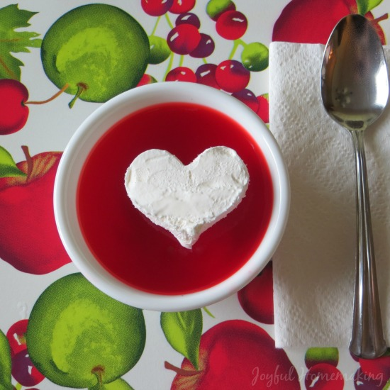 Jello Cool Whip Heart from Joyful Homemaking