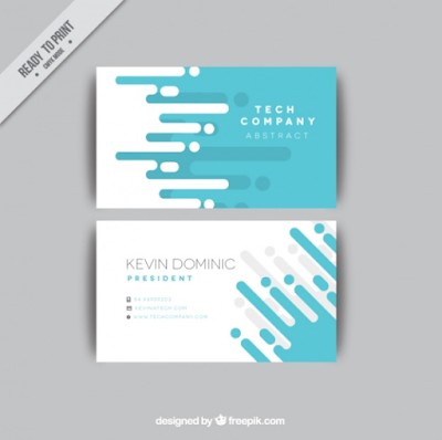 Kartu Nama - Abstract Business Card Flat Design