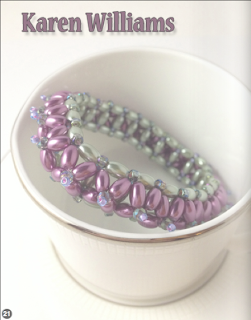 Photo spread of Primrose bangle by designer Karen Williams