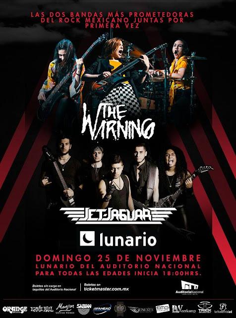 THE WARNING Y JET JAGUAR EN EL LUNARIO