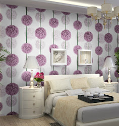 bedroom 3d wall paper living purple roll modern flower pvc wallpapers papel floral parede mural waterproof decor dezin foundation behang