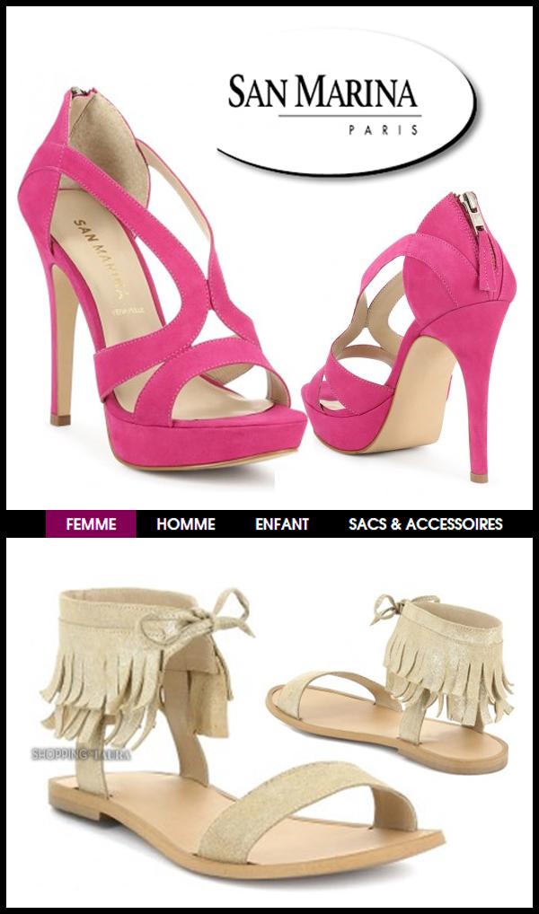 7d49e5d5db46 Chaussures femme SAN MARINA collection printemps-été 2014