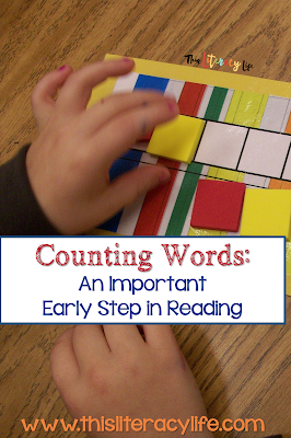 Phonemic Awareness activities are important for early readers. Counting words is an easy to do activity for many students.