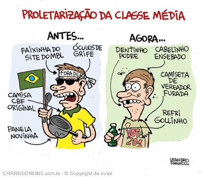 Wilson Vieira - Jornalismo e Cultura: Charge do dia - classe média...